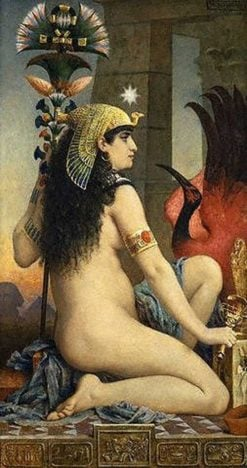 Egyptian Woman (also known as Cleopatra) | Jacques Clement Wagrez | Oil Painting