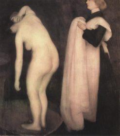 After the Bath   János Vaszary   Oil Painting