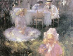 Breakfast in the Open Air   János Vaszary   Oil Painting