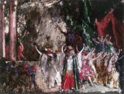 Theatrical Scene | János Vaszary | Oil Painting