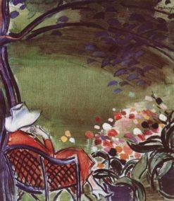 Woman Sitting in the Garden | János Vaszary | Oil Painting