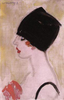 Woman in Profile with Black Turban | János Vaszary | Oil Painting