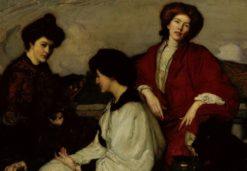 The Three Kimonos | George W. Lambert | Oil Painting