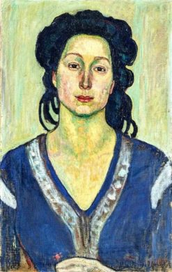 Portrait of Jeanne Charles Cerani | Ferdinand Hodler | Oil Painting