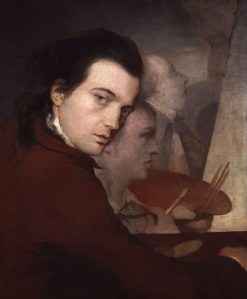 Self Portrait with Paine and Lefèvre   James Barry   Oil Painting