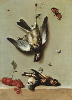 Still life with dead birds and cherries | Jean-Baptiste Oudry | Oil Painting