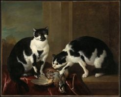 Two Cats | Jean-Baptiste Oudry | Oil Painting