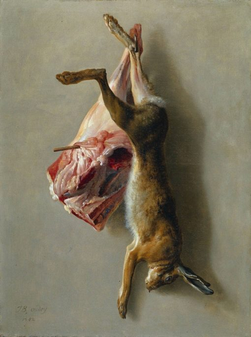 A Hare and a Leg of Lamb | Jean-Baptiste Oudry | Oil Painting