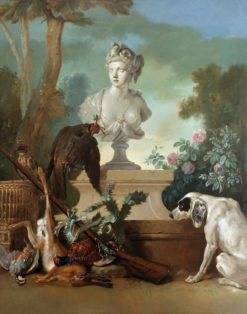 Still life with the bust of Africa | Jean-Baptiste Oudry | Oil Painting