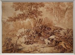 The Wolf Hunt | Jean-Baptiste Oudry | Oil Painting