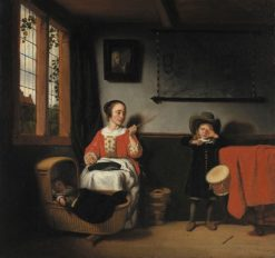 The Naughty Drummer | Nicolaes Maes | Oil Painting