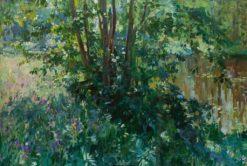 The Overgrown Pond | Nikolai Klodt | Oil Painting