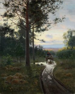 On the Forest Road | Nikolai Klodt | Oil Painting