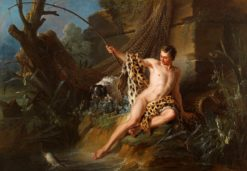 The Angler and the Small Fish | Jean-Baptiste Oudry | Oil Painting