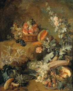 Still Life of Fruits and Vegetables (also known as Earth) | Jean-Baptiste Oudry | Oil Painting