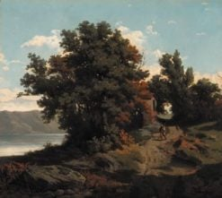 Landscape with Fisherman | Théodore Rousseau | Oil Painting