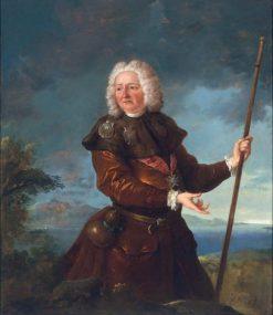 Portrait of a man as a pilgrim to Santiago de Compostela