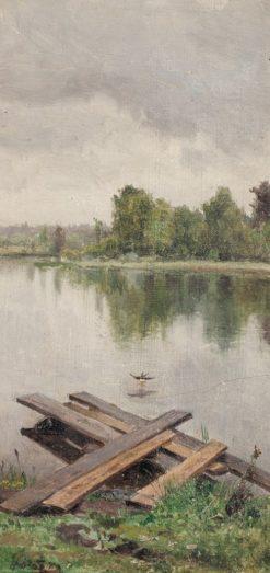 Before the Rain   Nikolai Klodt   Oil Painting