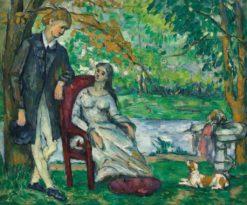 The Conversation | Paul Cézanne | Oil Painting
