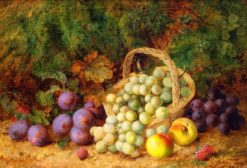 Still Life of Fruit and a Basket | George Clare | Oil Painting