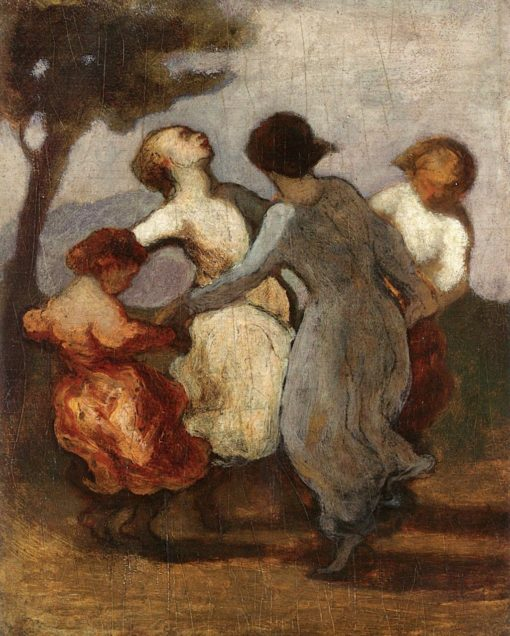 A Circle of Chidren (also known as Children Dancing in a Circle - Circle of Girls) | Honoré Daumier | Oil Painting