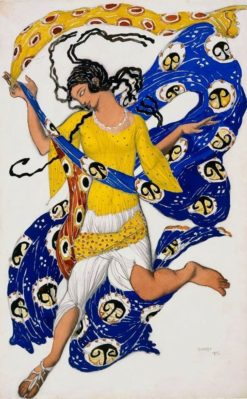 The Butterfly (also known as Costume design for Anna Pavlova) | Léon Bakst | Oil Painting
