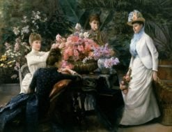 Spring Flowers (also known as In the Conservatory) | Julius LeBlanc Stewart | Oil Painting