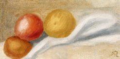 Three Apples | Pierre Auguste Renoir | Oil Painting