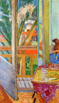 The Windowed Door with Dog | Pierre Bonnard | Oil Painting