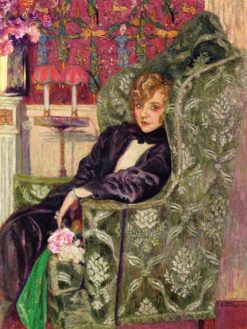 Yvonne Printemps in an Armchair | douard Vuillard | Oil Painting