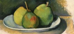 Pears on a White Plate | Paul Cézanne | Oil Painting