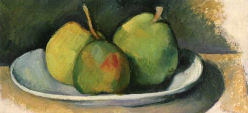 Pears on a White Plate   Paul Cézanne   Oil Painting