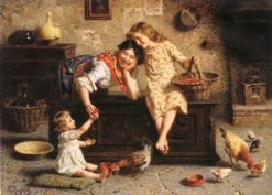 A Treat for Baby | Eugenio Zampighi | Oil Painting