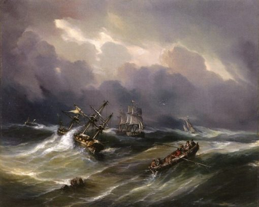 Ship in Distress | Theodore Gudin | Oil Painting