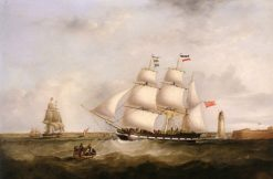 The 'Gazelle' entering the Mersey | Samuel Walters | Oil Painting