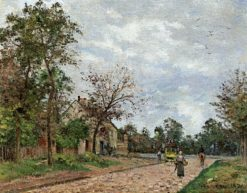 The Relay Station on the Versailles Road | Camille Pissarro | Oil Painting