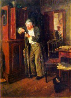 Hiding from Wife   Vladimir Yegorovich Makovsky   Oil Painting