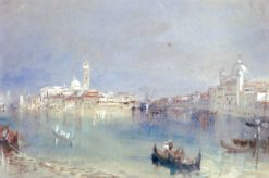 San Giorgio Maggiore and the Zitelle from the giudecca Canal | Joseph Mallord William Turner | Oil Painting