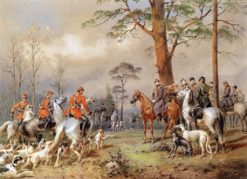 The Hunting Party of Emperor Alexander II | Mihály Zichy | Oil Painting