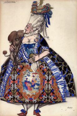 Costume Design for 'Les Femmes de bonne Humeur': Silvestra | Léon Bakst | Oil Painting