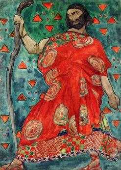Costume design for 'Antigone': Créon | Léon Bakst | Oil Painting