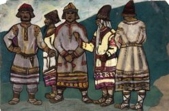 Costume design for 'Le Sacre du Printemps' | Nicholas Roerich | Oil Painting