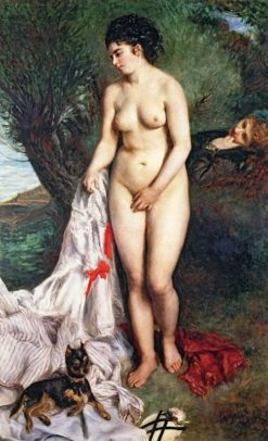 Bather with a Griffon Dog | Pierre Auguste Renoir | Oil Painting