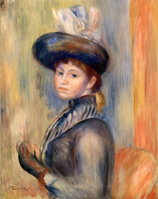 Girl in Grey-Blue | Pierre Auguste Renoir | Oil Painting