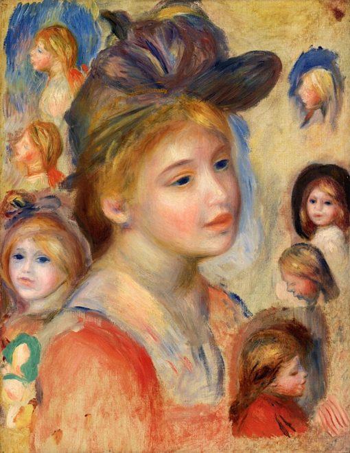 Study of Girls' Heads | Pierre Auguste Renoir | Oil Painting