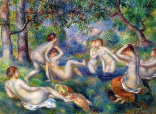 Bathers in the Forest | Pierre Auguste Renoir | Oil Painting