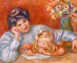 Writing Lesson | Pierre Auguste Renoir | Oil Painting
