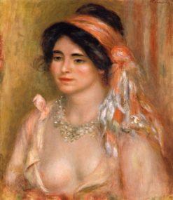 Woman with Black Hair | Pierre Auguste Renoir | Oil Painting