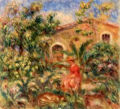 Landscape with Woman and Dog | Pierre Auguste Renoir | Oil Painting