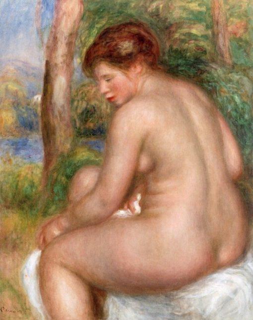 Bather in Three-Quarter View | Pierre Auguste Renoir | Oil Painting
